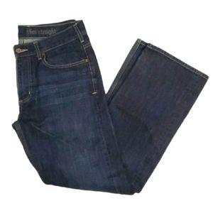 Carhartt men's dark wash slim straight jeans w32